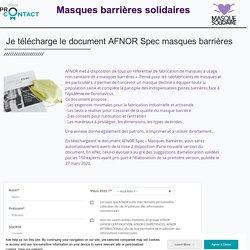 AFNOR Spec – Masques barrières - Téléchargement