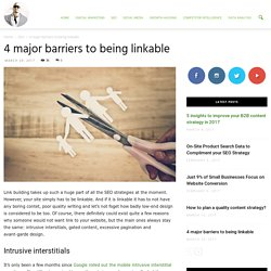 4 major barriers to being linkable - Ade Camilleri Marketing News