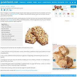 Barritas de cereales con frutos secos y coco