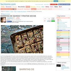 BARRITAS DE QUINOA Y FRUTOS SECOS