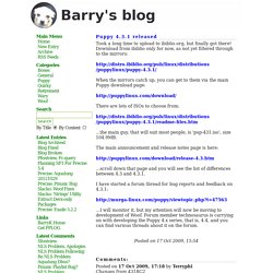 Barry Kauler - Powered by PPLOG