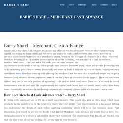 Barry Sharf Merchant Cash Advance - Learn and Apply Online for Cash Advance