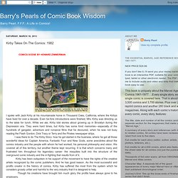 Barry's Pearls of Comic Book Wisdom: Kirby Takes On The Comics: 1982