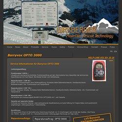Barryvox OPTO3000 service