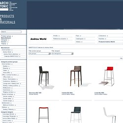Andreu World Products Collection BARSTOOLS