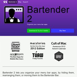 Bartender | Mac Menu Bar Item Control
