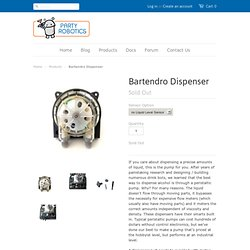 Bartendro Dispenser – Party Robotics Store