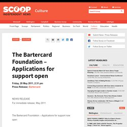 The Bartercard Foundation – Applications for support open