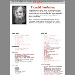 Donald Barthelme's barthelmismo