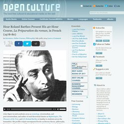 Hear Roland Barthes Present His 40-Hour Course, La Préparation du roman, in French (1978-80)