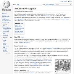 Bartholomeus Anglicus