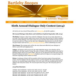 Bartleby Snopes Dialogue Only Writing Contest