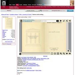 Roman cursive writing .. : Van Hoesen, Henry Bartlett, 1885-