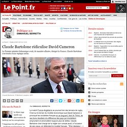 Claude Bartolone ridiculise David Cameron