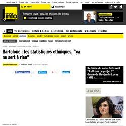 """Bartolone : les statistiques ethniques, """"ça ne sert à rien"""""""