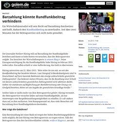 Protest: Barzahlung könnte Rundfunkbeitrag verhindern