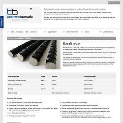 Basalt rebar - products - Technobasalt