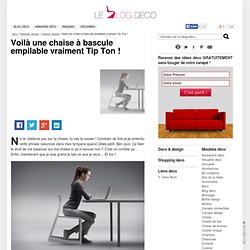 Mon avis sur la chaise à bascule empilable design Tip Ton chair, par Barber Osgerby