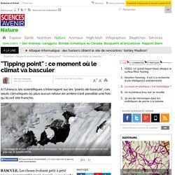 """Tipping point"" : ce moment où le climat va basculer"