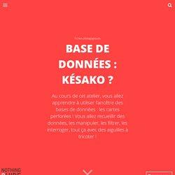 Base de données : késako ?