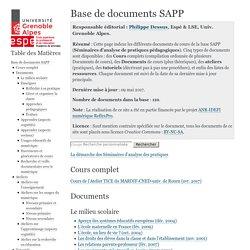 SAPEA - IUFM Grenoble - Ressources