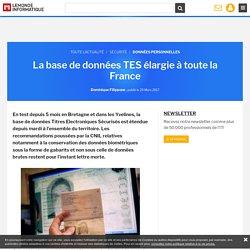 La base de données TES élargie à toute la France