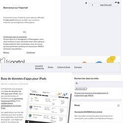 Base de données d'apps pour iPads