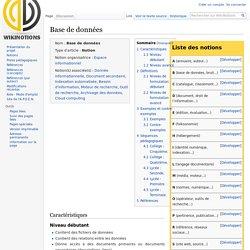 Base de données — WikiNotions