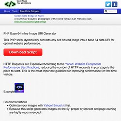 PHP Base 64 Inline Image URI Generator