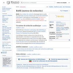 BASE (moteur de recherche)