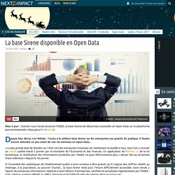 La base Sirene disponible en Open Data