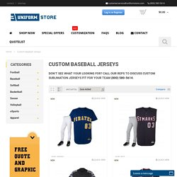 Custom Baseball Jerseys and Uniforms