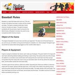 Baseball Rules: How To Play Baseball