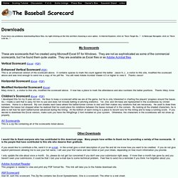 The Baseball Scorecard - Downloads