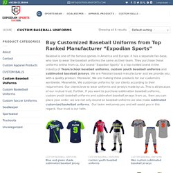 Top best Custom Baseball Uniforms & jersey builder