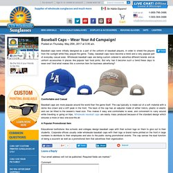 Baseball Caps – Wear Your Ad Campaign!