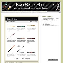 Baseball Bats:Aluminum Baseball Bats :Youth Baseball Bats