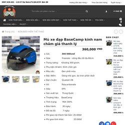 Mũ xe đạp BaseCamp kính nam châm giá thanh lý