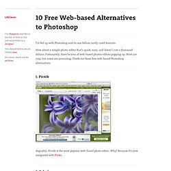 10 Free Web-based Alternatives to Photoshop