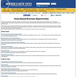 Home-based Business Opportunities