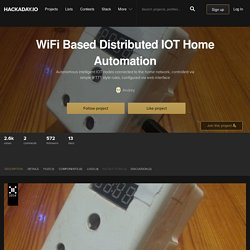 WiFi Based Distributed IOT Home Automation