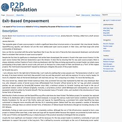 Exit-Based Empowerment