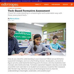Tech-Based Formative Assessment
