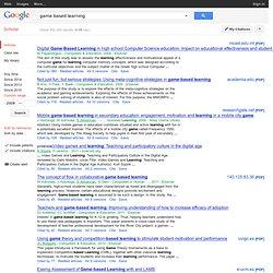 GBL since 2009 @ Google Scholar