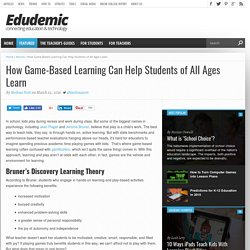 How Game-Based Learning Can Help Students of All Ages Learn