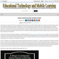 Game-based Learning: Teachers Guide