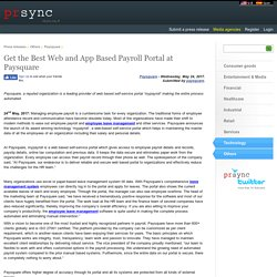 Get the Best Web and App Based Payroll Portal at Paysquare