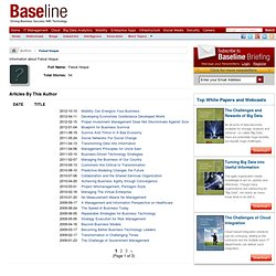 Baseline - Author Biography - Faisal Hoque - News & Reviews - Baseline.com