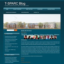 T-SPARC Baseline Review @ T-SPARC Blog