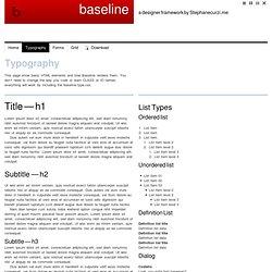 Baseline - Typography